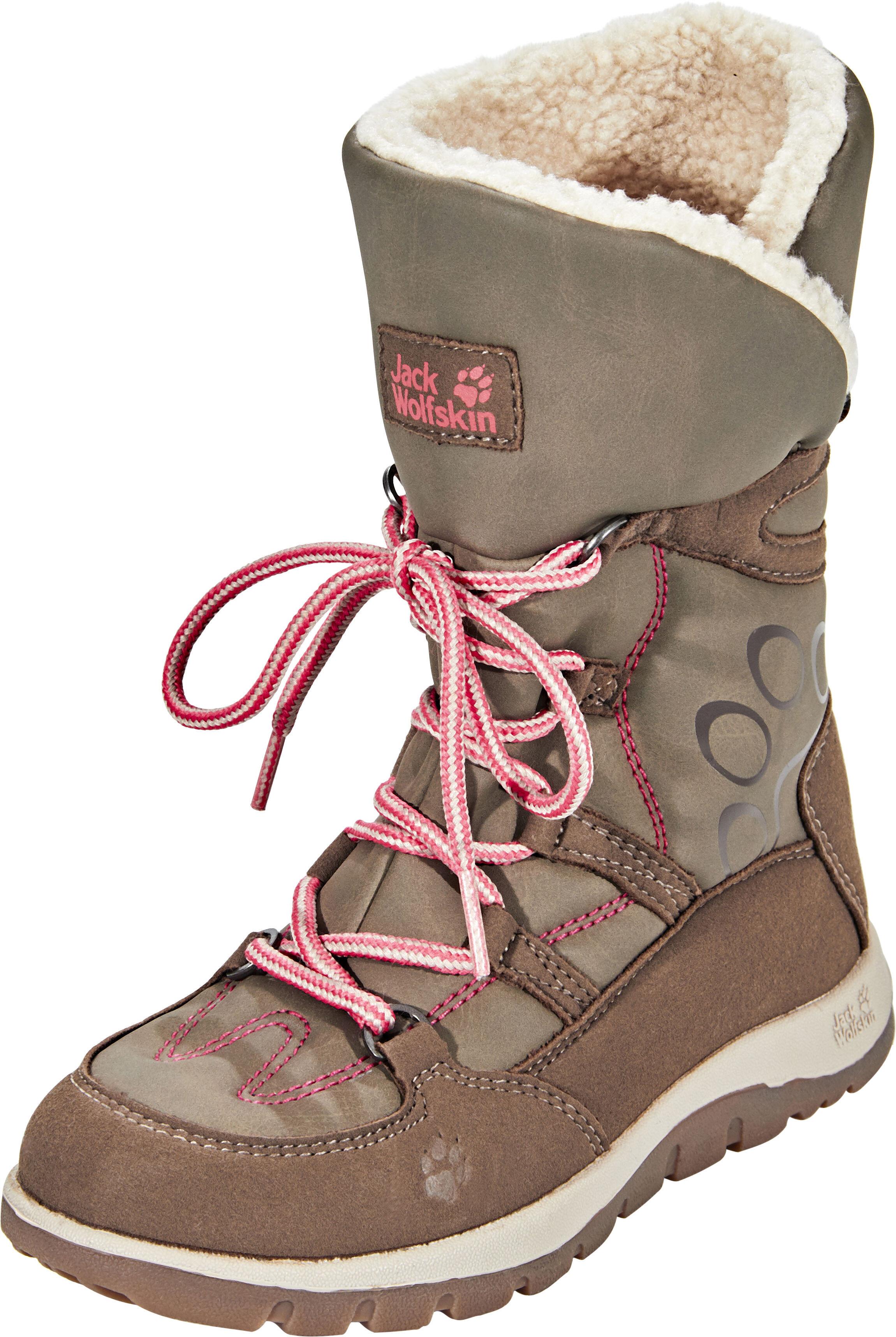 the latest 45302 a2c15 Jack Wolfskin Rhode Island Texapore High Winter Boots Girls siltstone